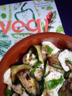 Gemarineerde courgettes met mozzarella