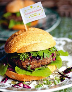 Vegetarische hamburger: Spicy Greendeliciousburger