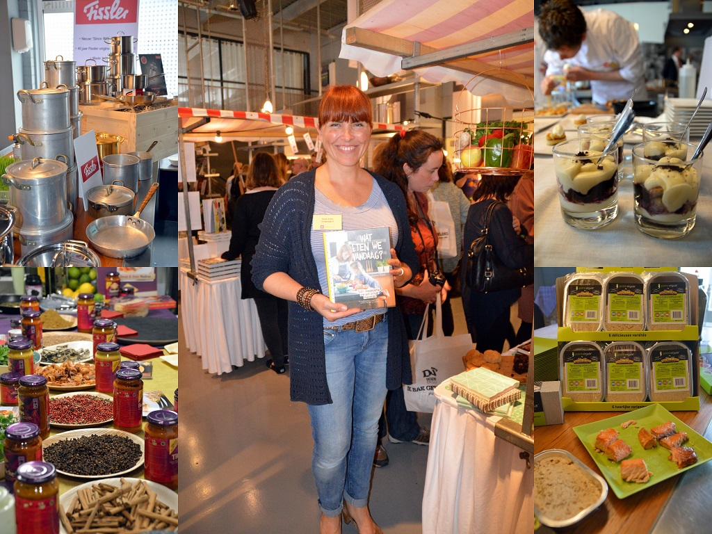 Culiperslunch 2015: Susan Aretz met boek Wat eten we vandaag?, Fissler pannen, Patak's currypasta, toetjes van Jan poffertjes en rookmot voor de barbecue (Point-Virgule)